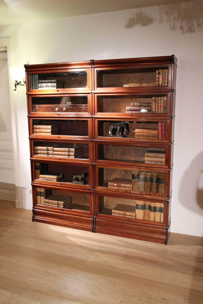 Original Mahogany Globe Wernicke Bookcase In Perfect Condition At 1stdibs