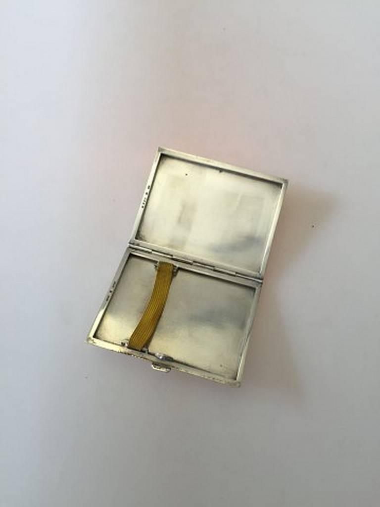 georg jensen sterling silver card cigarette holder box 226b from 1933 1944 for sale at 1stdibs. Black Bedroom Furniture Sets. Home Design Ideas
