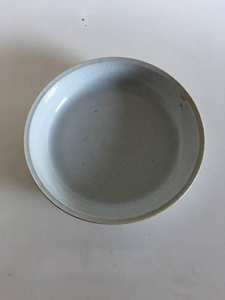 Scandinavian Modern Bing & Grondahl Stoneware Unique Tray by George Hatting #335 For Sale