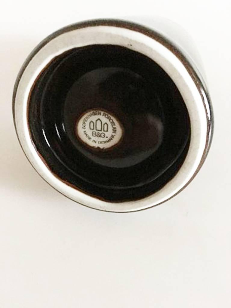 Danish Bing & Grondahl Stoneware Candleholder For Sale
