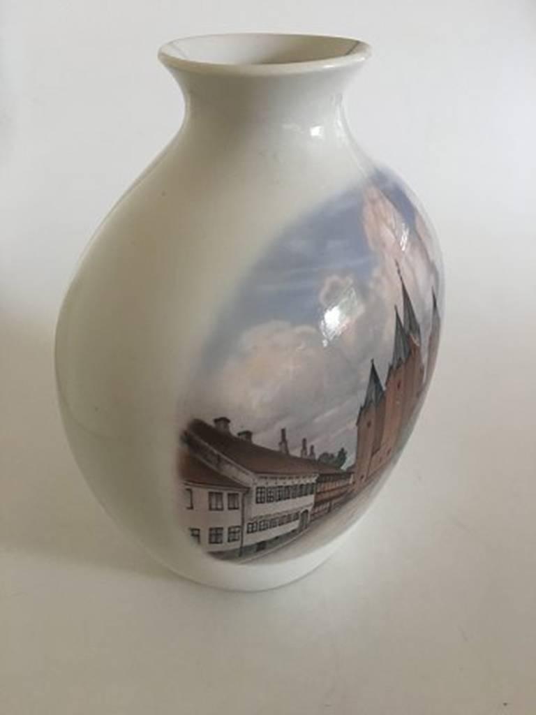 Bing & Grondahl unique vase by Sophus Jensen. Measures: 30 cm H (11 13/16 in). In nice condition.