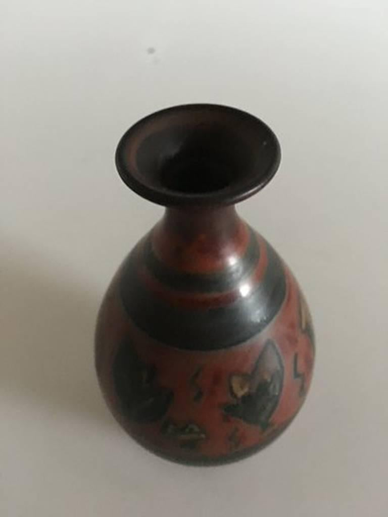 Art Nouveau Bing & Grondahl Unique Vase by Cathinka Olsen #1763 For Sale