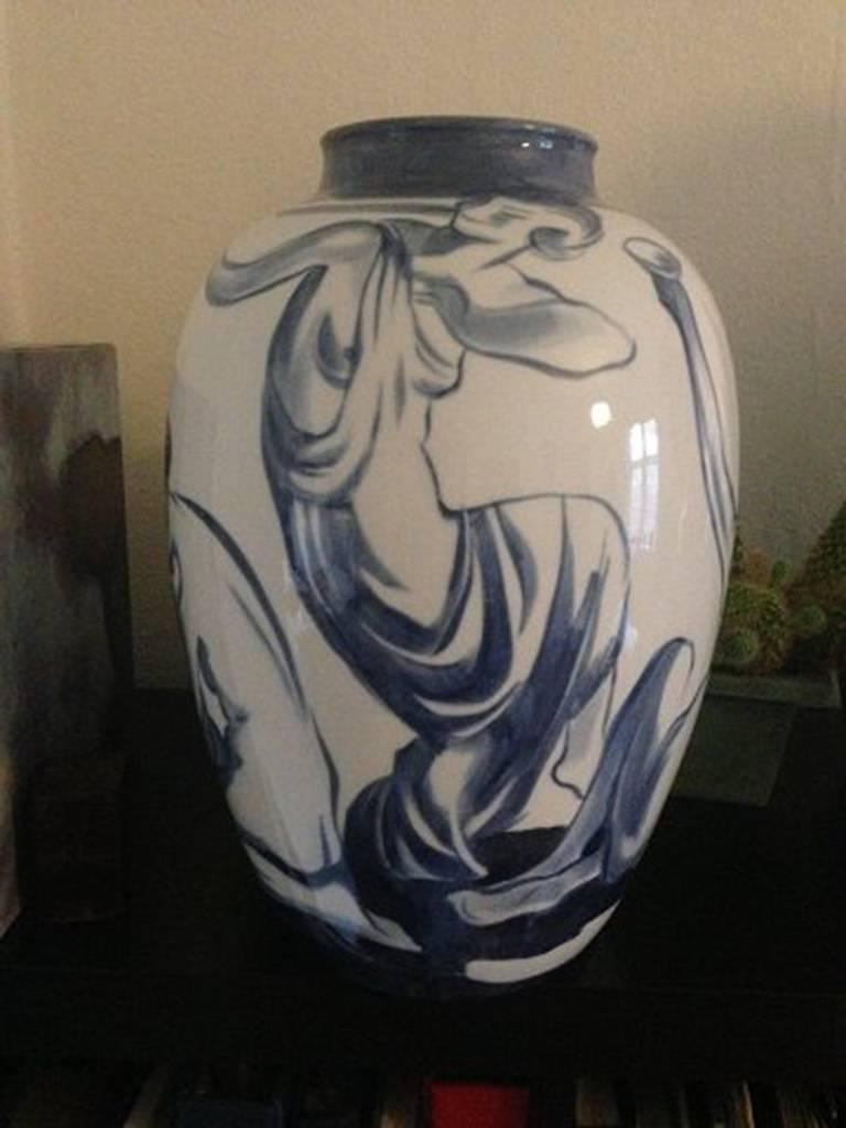 Danish Bing & Grondahl Art Nouveau Unique Vase For Sale