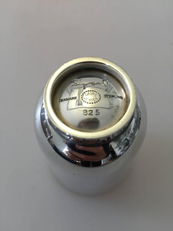 Art Deco Georg Jensen Sterling Silver Sigvard Bernadotte Cup For Sale