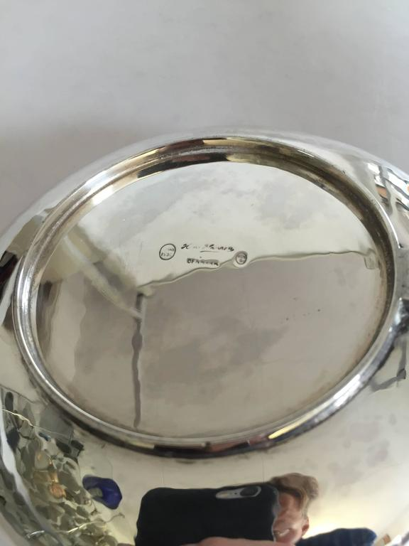 Art Deco Hans Hansen Sterling Silver Decorative Bowl #143 For Sale