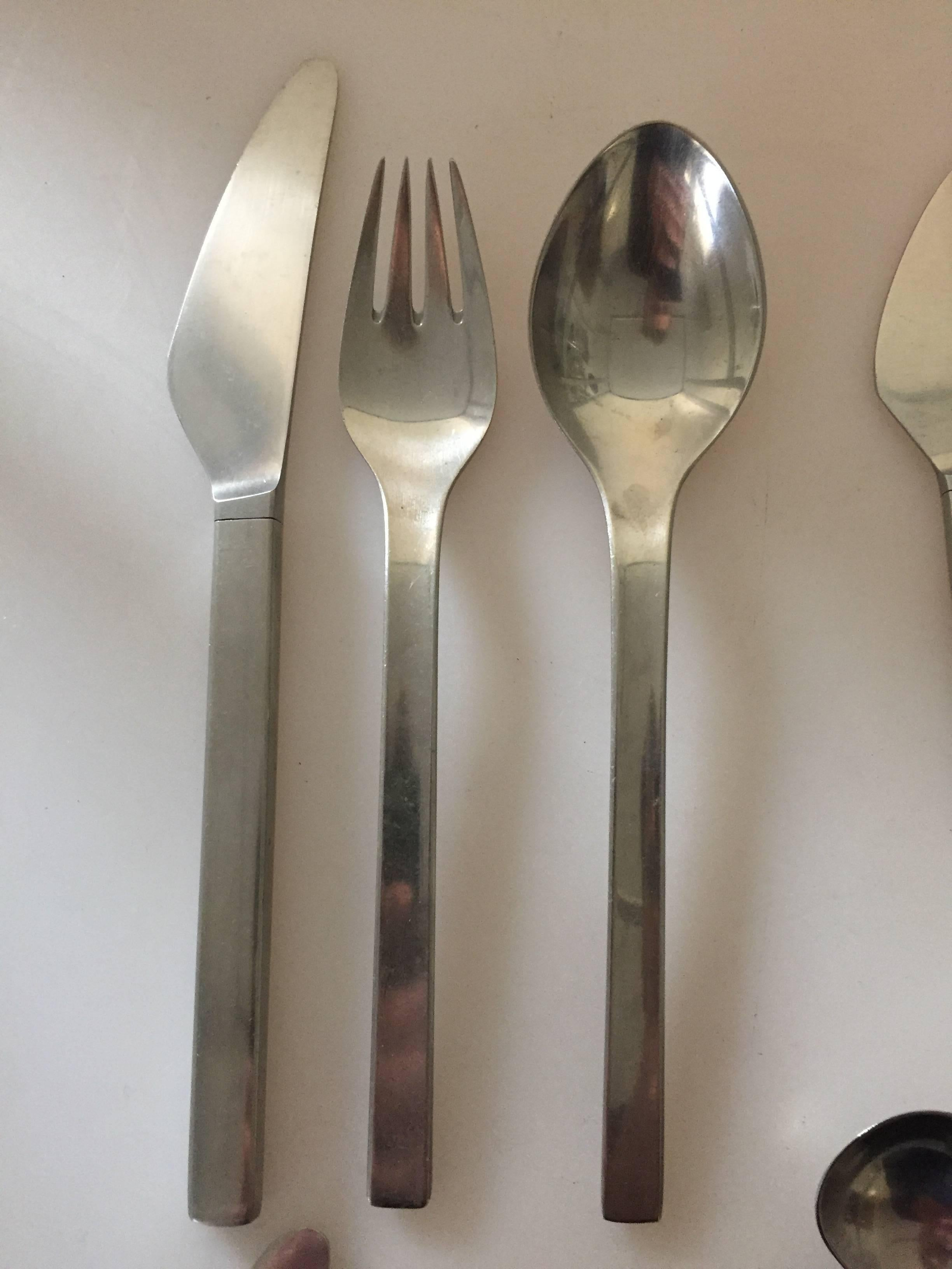 c70dddfb5b7c Georg Jensen Stainless Steel Flatware Tuja Tanaguil Set of 72 Pieces For  Sale at 1stdibs