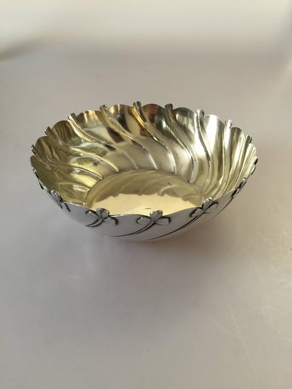 Danish Anton Michelsen Sterling Silver Art Nouveau Decorative Bowl For Sale