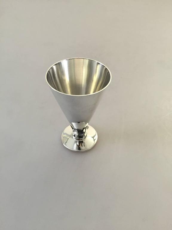 Danish C.C. Hermann sterling silver liquor glass.