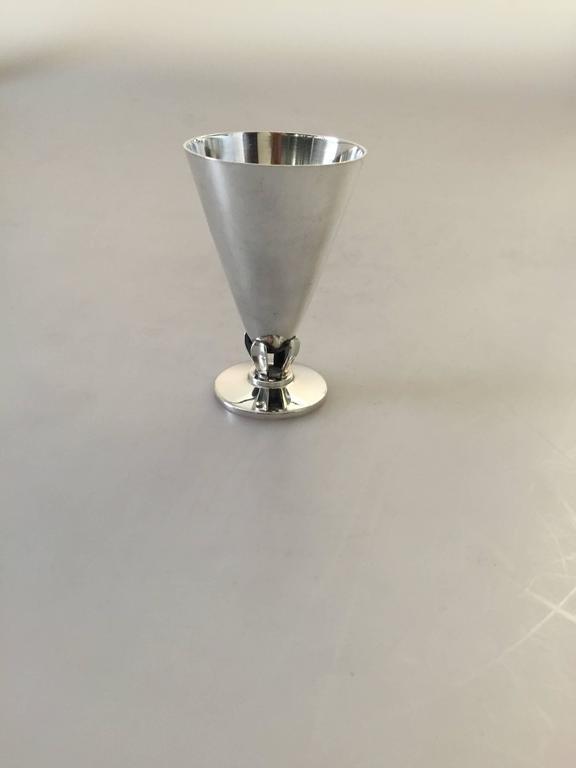 Danish C.C. Hermann Sterling Silver Liquor Glass In Good Condition For Sale In Copenhagen, DK