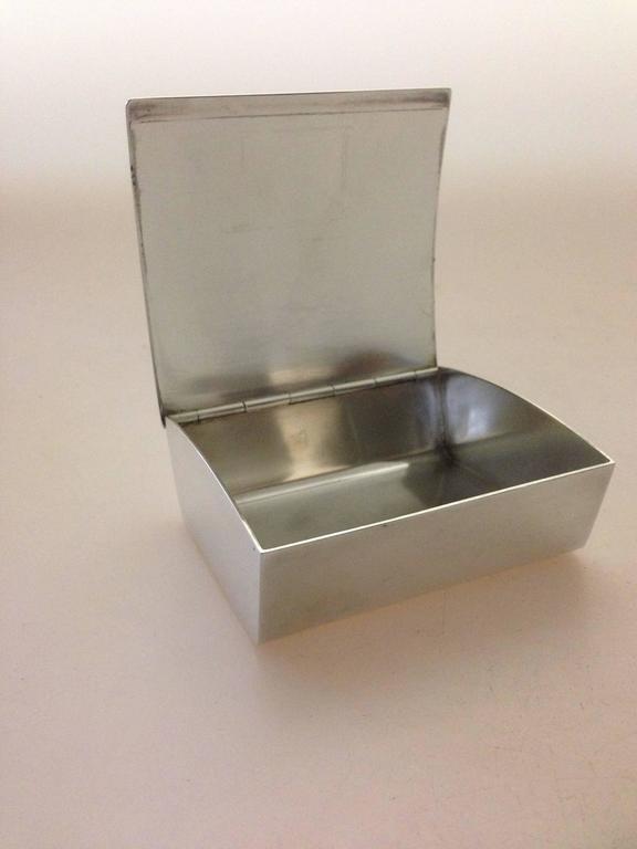georg jensen sterling silver box by arno malinowski 1069 for sale at 1stdibs. Black Bedroom Furniture Sets. Home Design Ideas