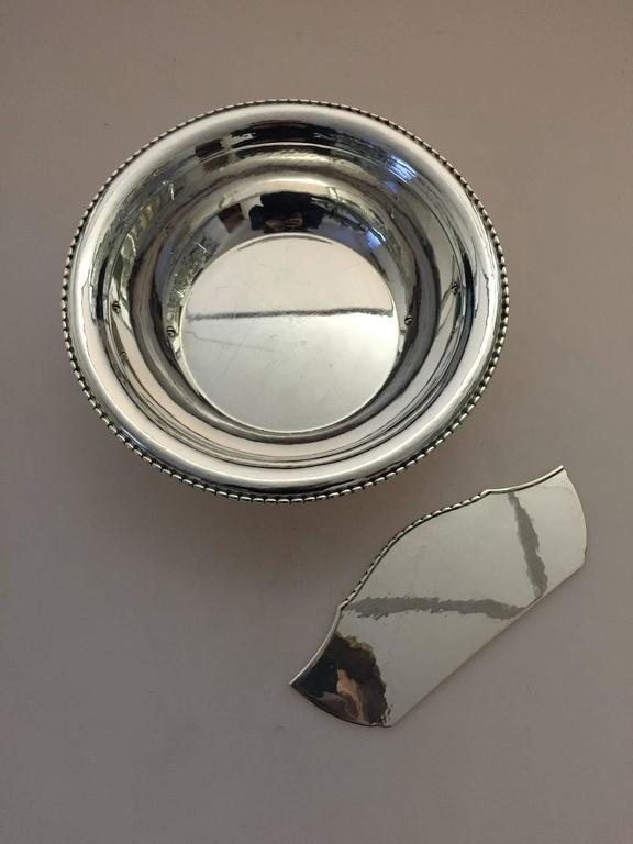 Danish Georg Jensen Sterling Silver Divided Bowl For Sale