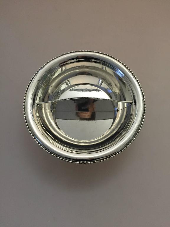 20th Century Georg Jensen Sterling Silver Divided Bowl For Sale
