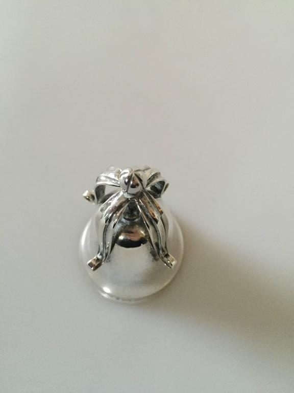20th Century Georg Jensen Sterling Silver Table Bell For Sale