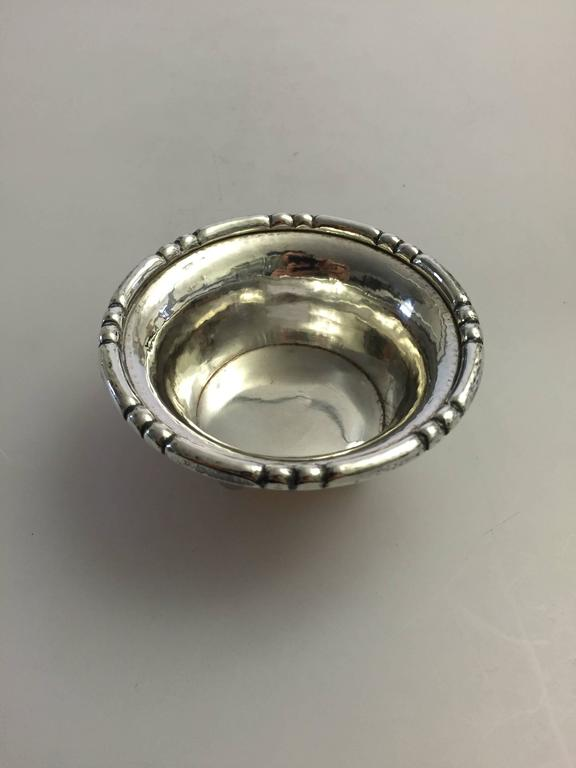 Georg Jensen Sterling Silver Footed Bowl In Excellent Condition For Sale In Copenhagen, DK