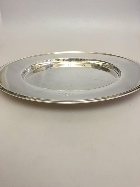20th Century Hans Hansen Sterling Silver Large Tray #461