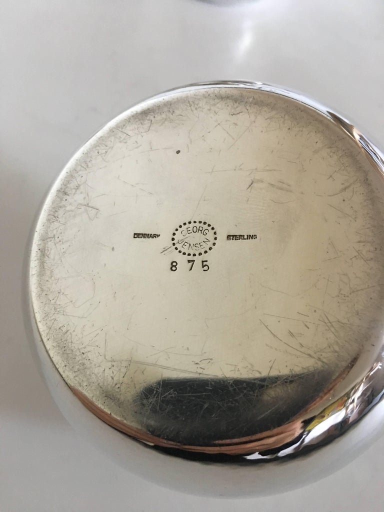 Georg Jensen Sterling Silver Coffee Pot Creamer Sukker