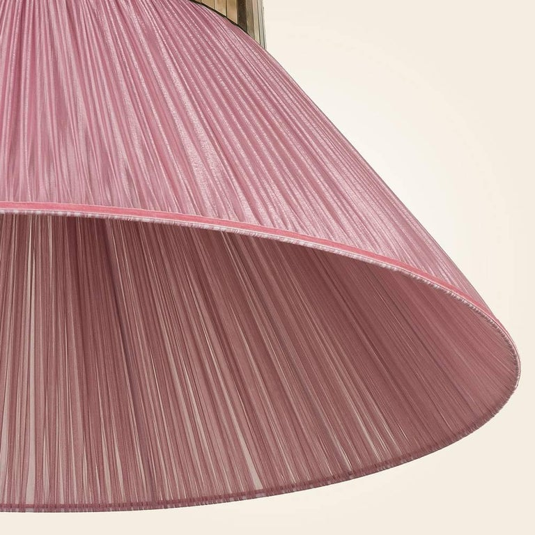 Tiffany contemporary Hanging Lamp 100 cm onion Silk, Silvered Glass ...