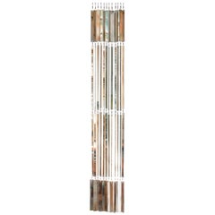 """Niagara"" contemporary curtain, set of 10 glass silvered Strips"