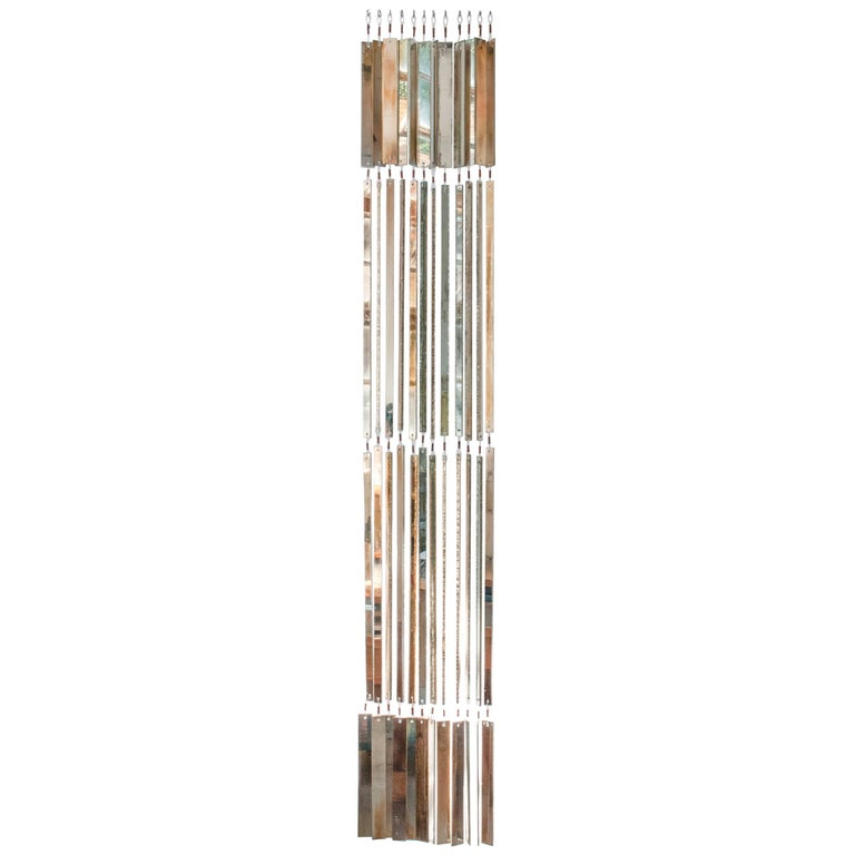 """""""Niagara"""" contemporary curtain, set of 10 glass silvered Strips   For Sale"""