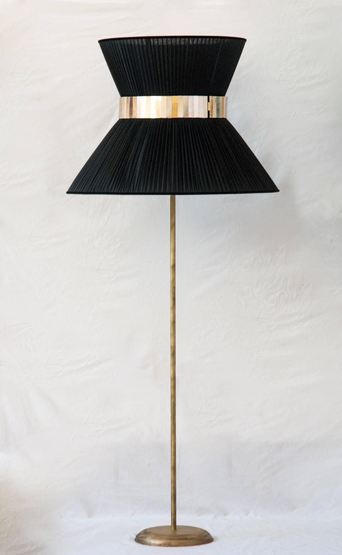 tiffany floor lamp standing lightings silk shade bronze. Black Bedroom Furniture Sets. Home Design Ideas