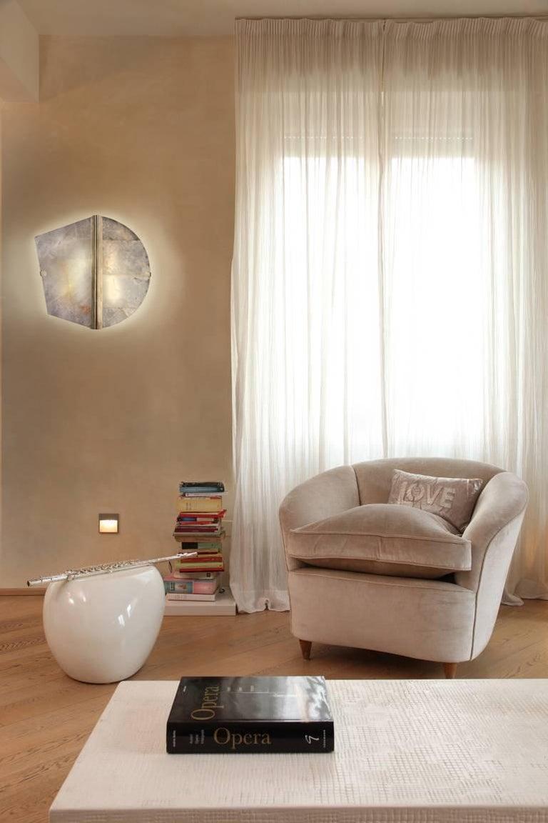 "Twobe"" Wall Lamp in brass, Rock Crystal, led light, handmade in ..."