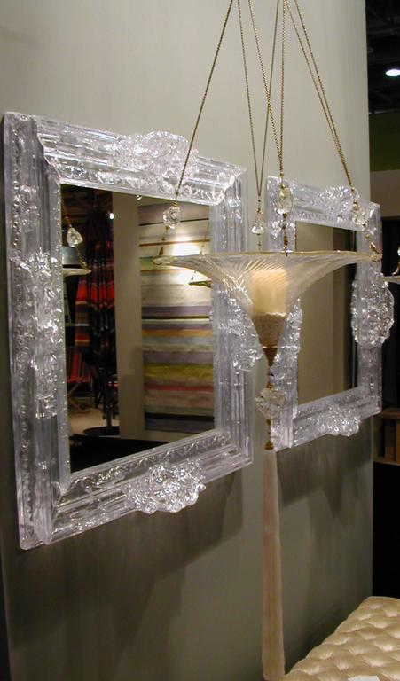 Baroque clear plastic mirror with baroque frame with for Plastic baroque furniture