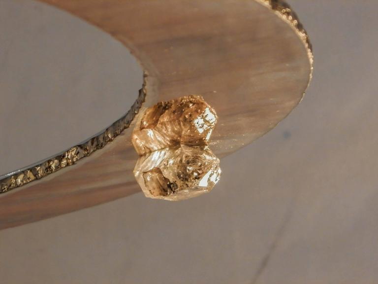 Planetarium Pendant Chandelier Sculpture Art Piece Silvered Glass Rock Crystal 10