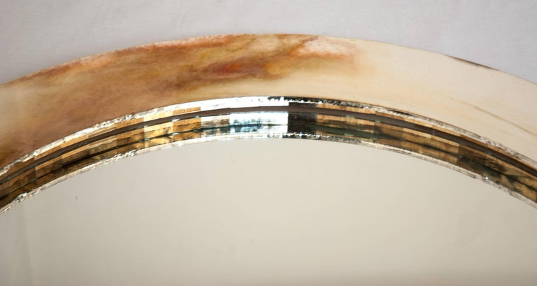 Italian Life Mirror, Tridimensional Art Glass Silvering central Actual Mirror by sabrina For Sale