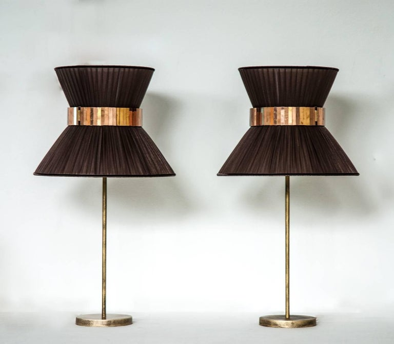 This light object  is a contemporary piece, entirely made in Tuscany and produced 100% by hand in Sabrina Landini's atelier.  The Tiffany lamp is Sabrina's first creation and is inspired by Audrey Hepburn's timeless charm. Attractive, transversal,
