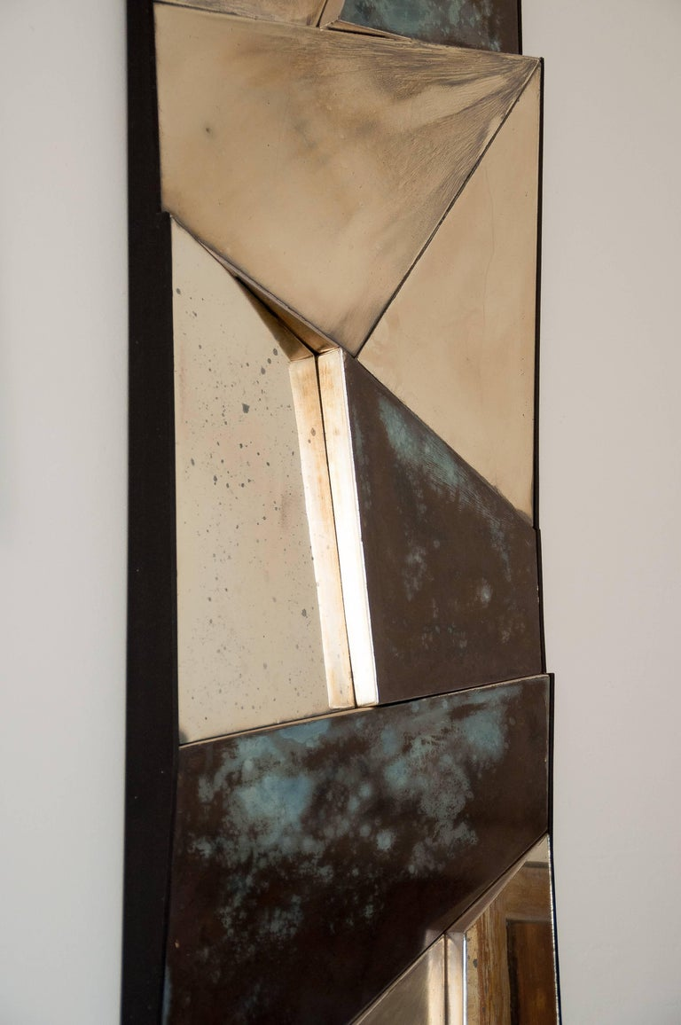 Group of 3 contemporary Sculpture Mirrors, Silvered Art Glass, now available   For Sale 2