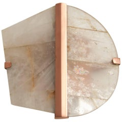 """Twobe"" Wall Lamp in copper, Rock Crystal, led light, handmade in tuscany italy"