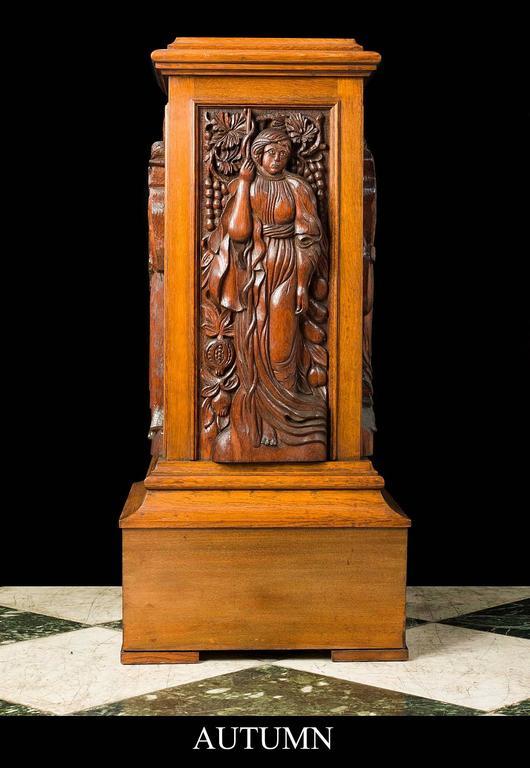 Arts and crafts oak pedestal for sale at 1stdibs for Jamaican arts and crafts for sale