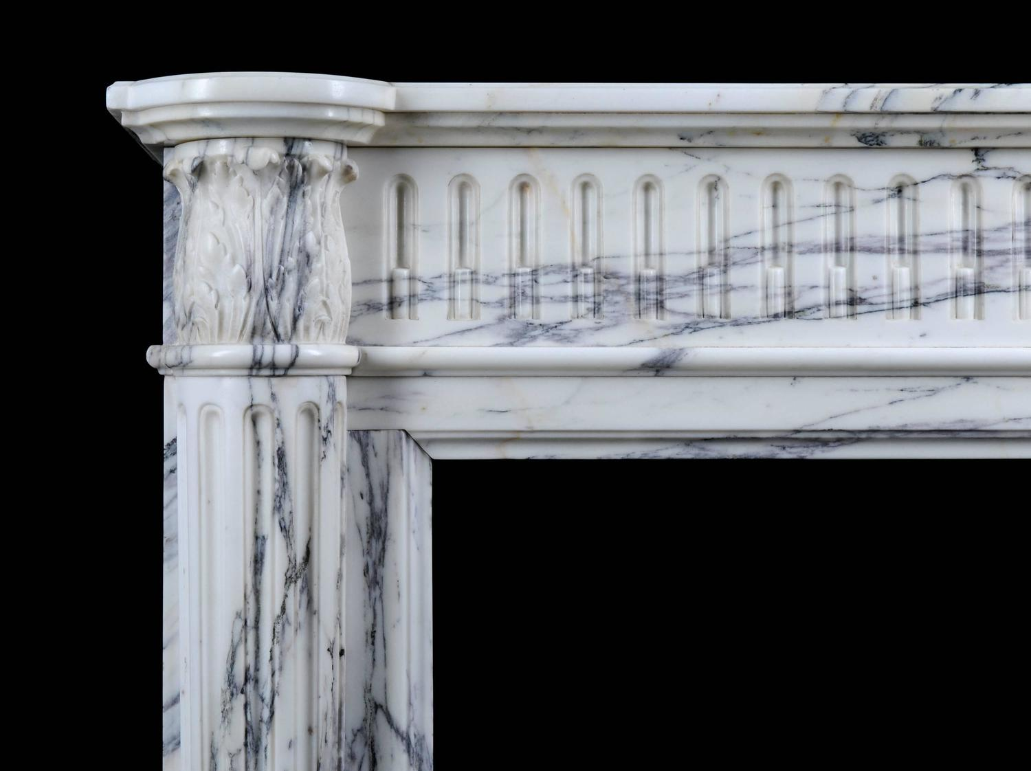 Small french regency antique fireplace mantel in for Marble mantels for sale