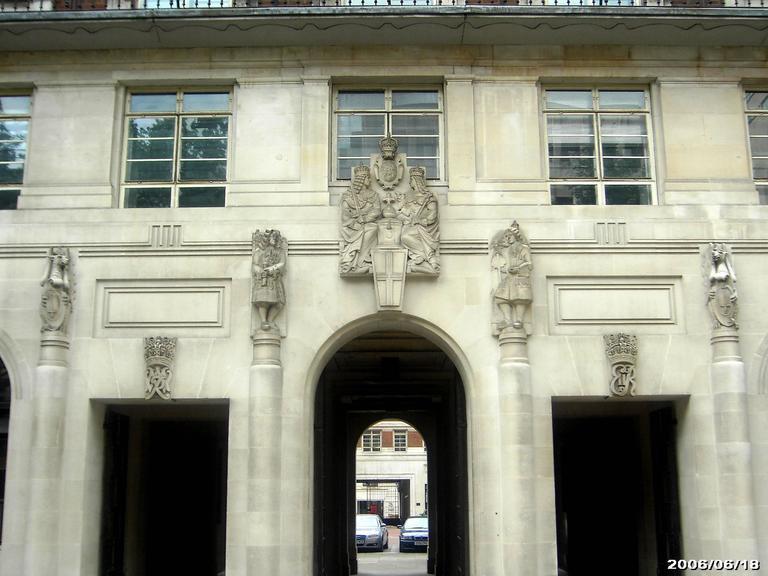 Baroque Esmond Burton Portland Stone Sculpture from the Bank of England Annexe For Sale