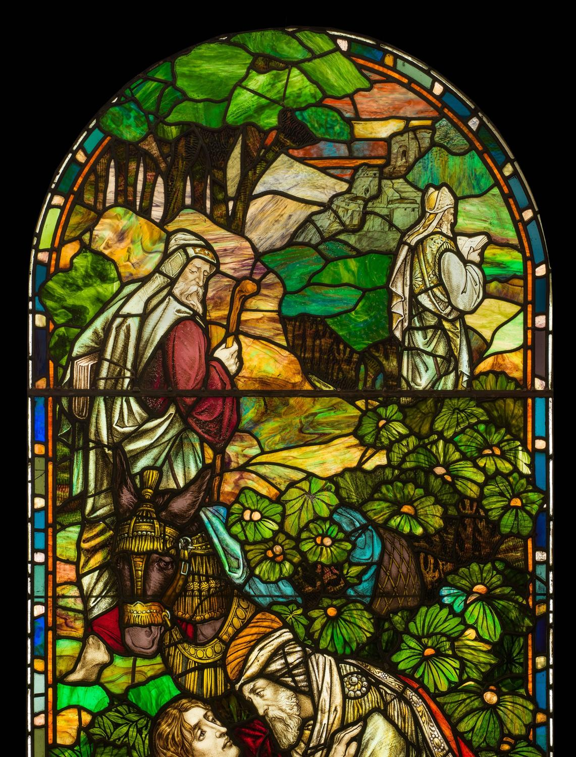 A Very Beautiful Antique Victorian Stained Glass Window
