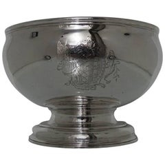 Antique Mid-18th Century Sterling Silver George II Large Punch Bowl