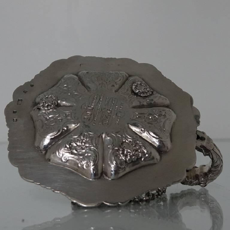 Antique George IV Sterling Silver Scottish Chamber-Stick Makers Mark A.E For Sale 2