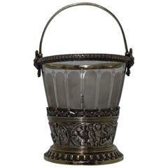 Silver Plated Victorian Ice Bucket, circa 1860, Elkington & Company
