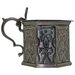 Sterling Silver Victorian Mustard Pot, London, 1843 Barnard Family