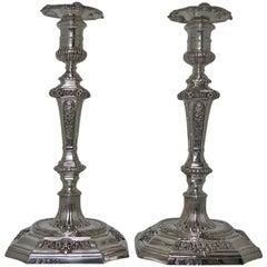 Pair of Victorian Silver Sterling Candlesticks, London, 1868 Robert Garrard