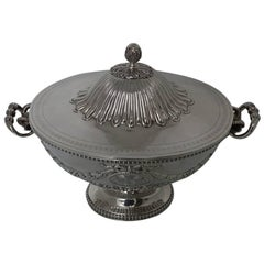 Sterling Silver Victorian Soup Tureen London, 1865, Robert Hennell