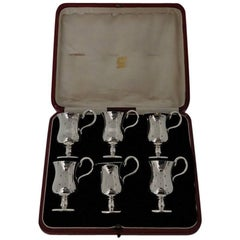 Six Sterling Silver Tot Cups London 1912 Arnold & Lewis