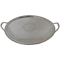 George III 19th Century Silver Tea Tray London, 1800, Solomon Hougham