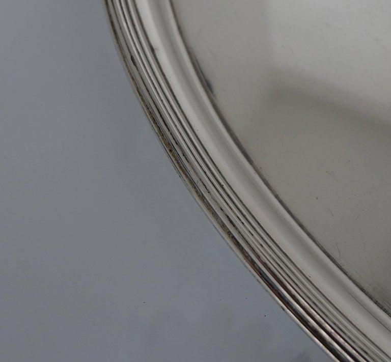 British George III 19th Century Silver Tea Tray London, 1800, Solomon Hougham For Sale