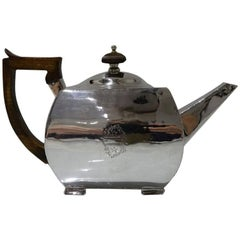 Antique George III Sterling Silver Teapot London 1802 John Robins