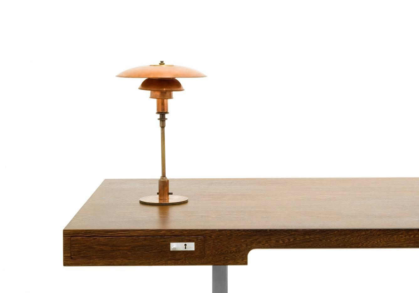 poul henningsen table lamp copper at 1stdibs. Black Bedroom Furniture Sets. Home Design Ideas