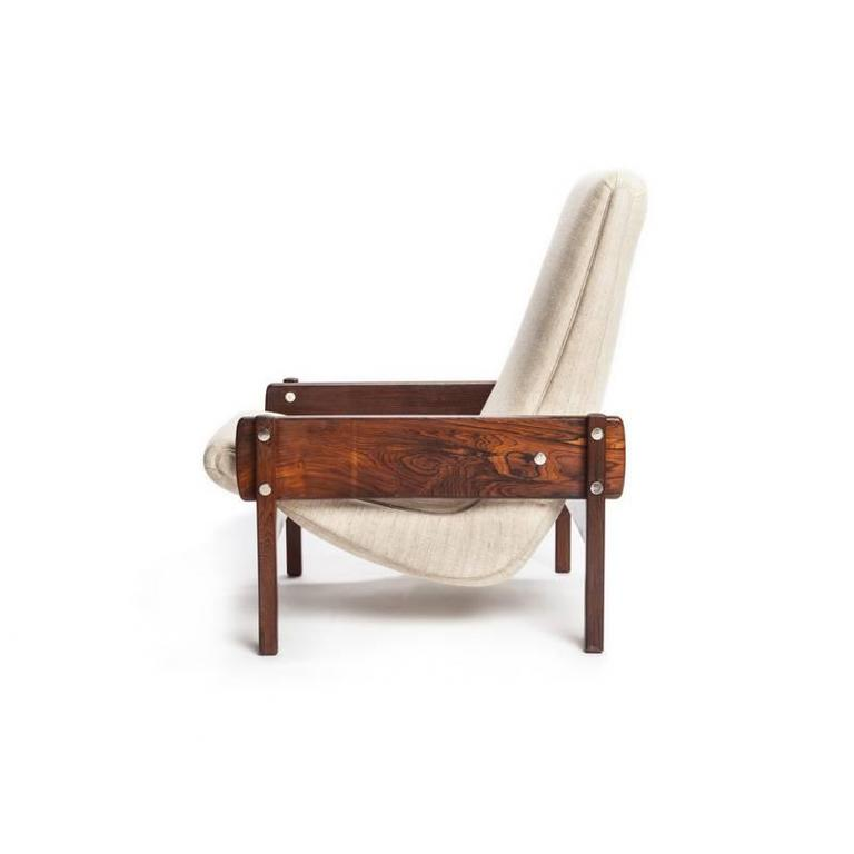Mid Century Modern Brazilian Modern Rosewood U201cVronkau201d Lounge Chairs By  Sergio Rodrigues For