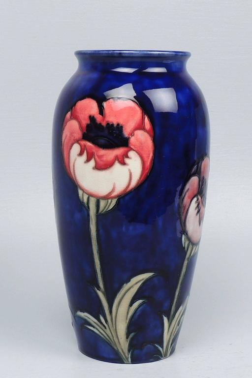 Moorcroft Pottery Big Poppy Vase For Sale At 1stdibs