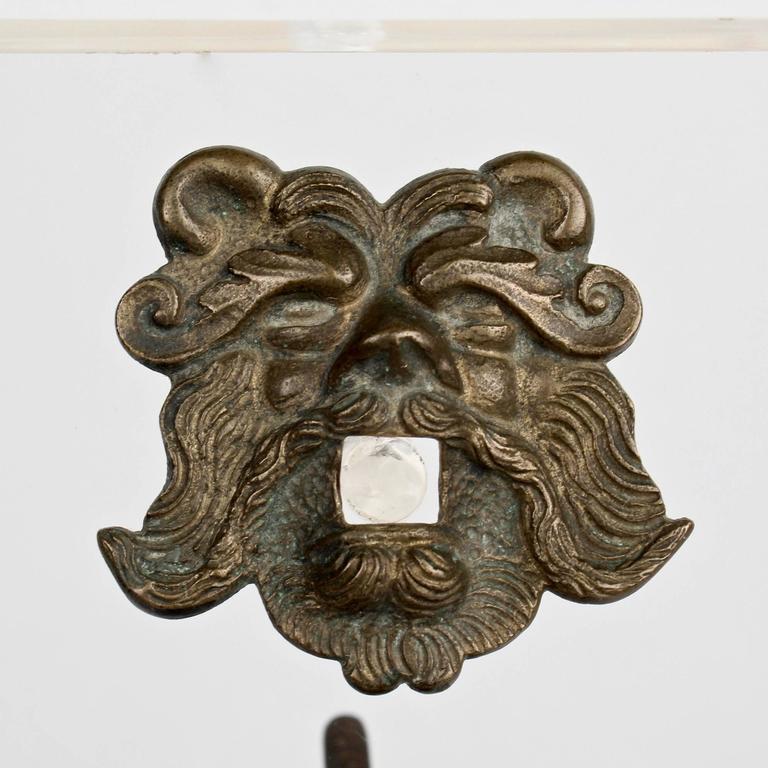 Antique Renaissance Style Bronze Door Knocker with 2 Hippocampi & Neptune's  ... - Antique Renaissance Style Bronze Door Knocker With 2 Hippocampi