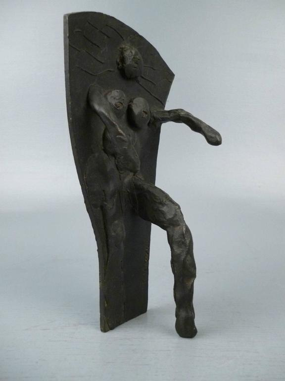 God - a small bronze sculpture by Abbott Lawrence Pattison. A strong feminist depiction of God as woman.